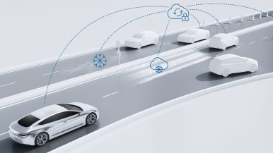 In automated vehicles, the seat-of-the-pants feel comes from the Bosch cloud