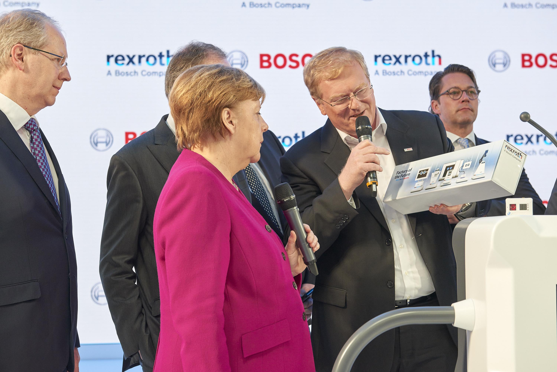 Kanzlerin Merkel bei der Hannover Messe 2018