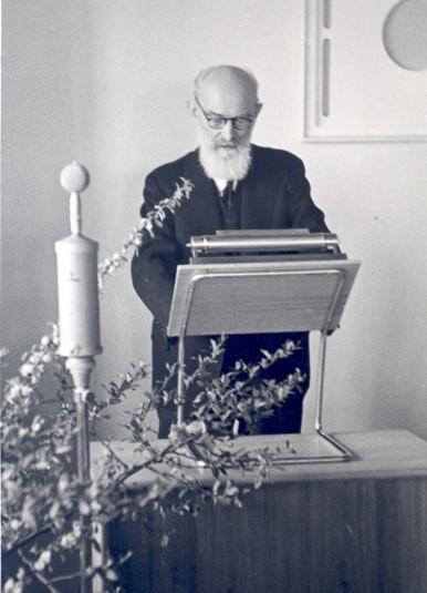 Robert Bosch at the opening of the Robert-Bosch-Hospital in Stuttgart, 1940