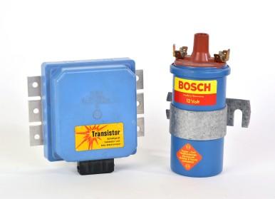 Kontaktlose Transistorzuendung (Schaltung für Zündung und Handelszündspule), 1974