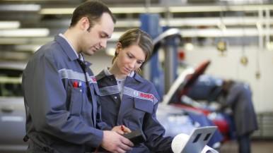 Bosch Trainingsprogramm 2018 für Kfz-Werkstätten erweitert und aktualisiert