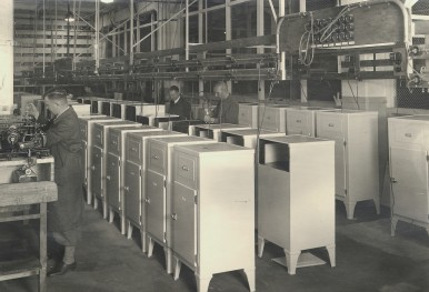 Assembly of refrigerators in Stuttgart, 1936 (household appliances)