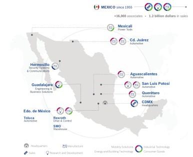 Standorte von Bosch in Mexiko