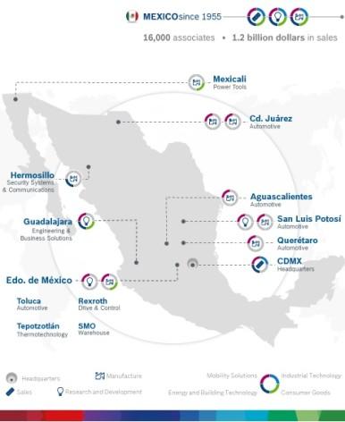Standorte Bosch in Mexico