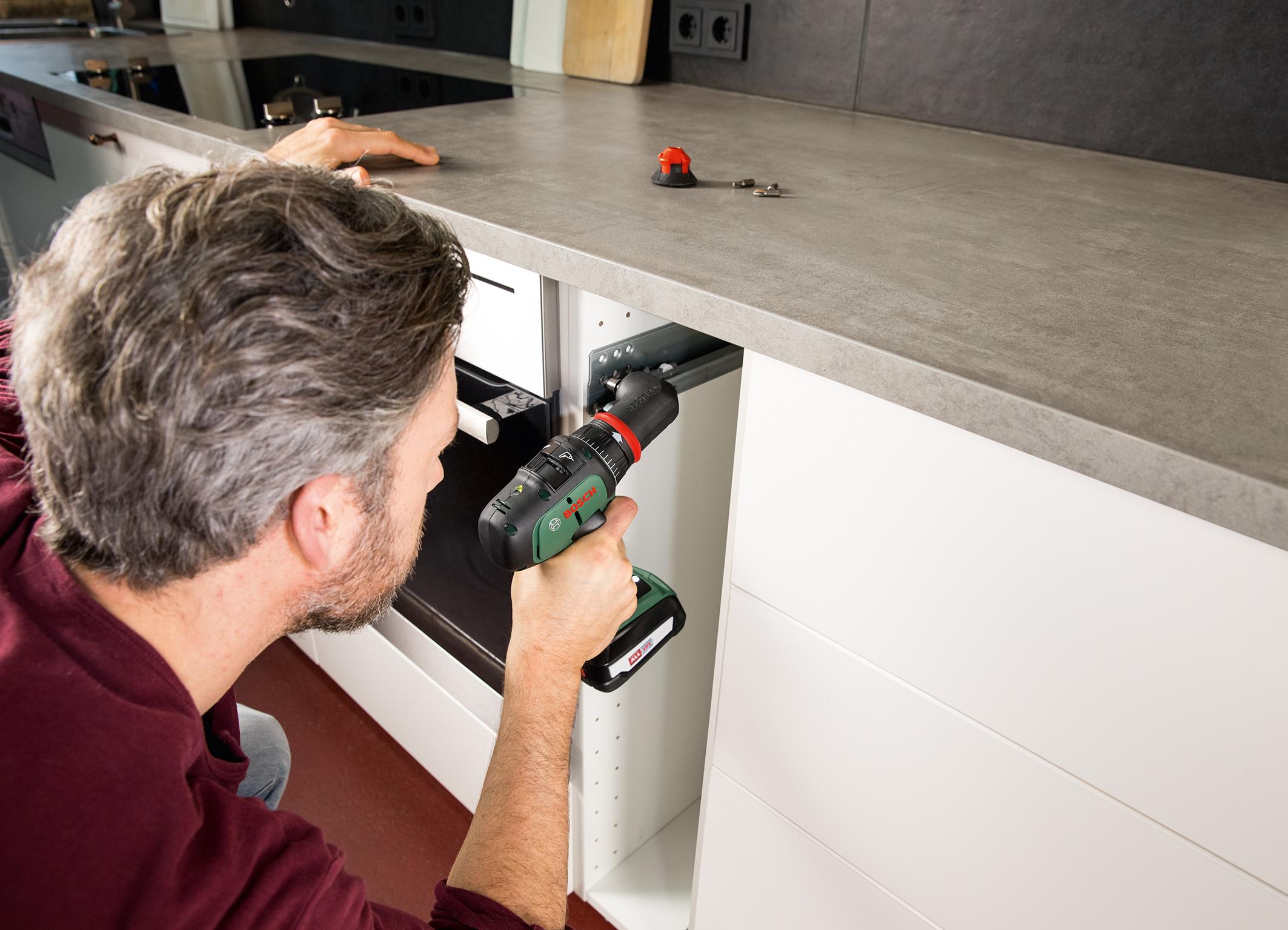 Maximale Flexibilität durch Wechselaufsätze: AdvancedDrill 18 und AdvancedImpact 18 von Bosch