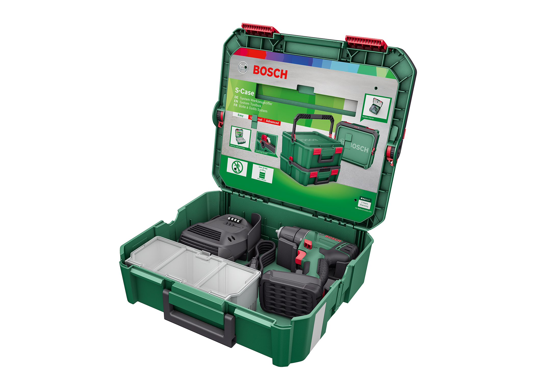 "Everything you need for screwdriving, drilling and fastening: the ""Screwdriving and drilling"" SystemBox from Bosch for DIY enthusiasts"