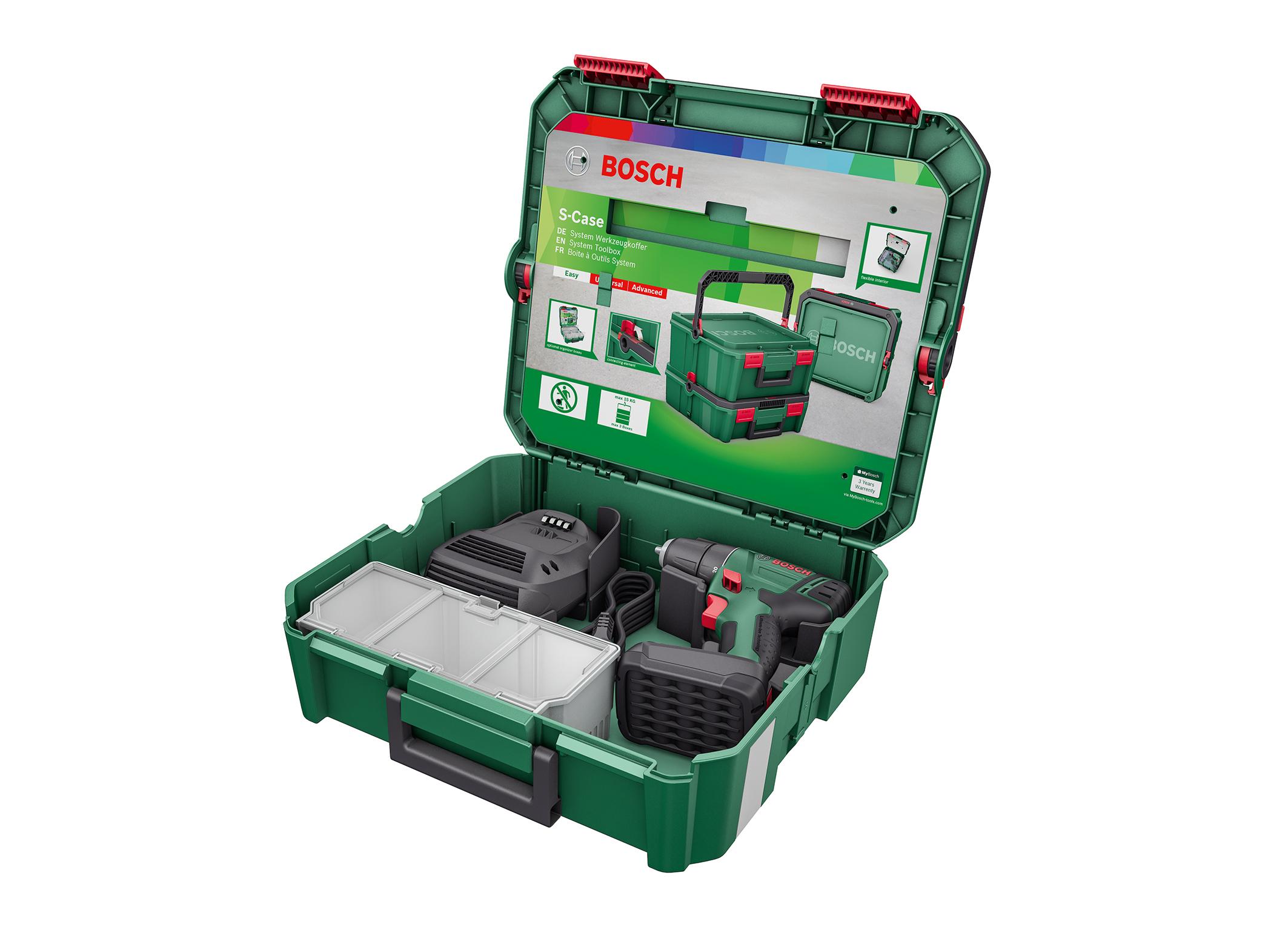 """Alles was man zum Schrauben, Bohren und Befestigen braucht: die SystemBox """"Schrauben und Bohren"""" von Bosch für Heimwerker"""