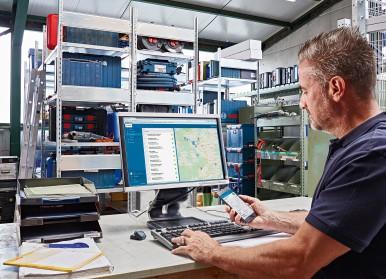 """Bosch baut Connectivity-System für Profis weiter aus: Weiterentwickeltes Bestandsmanagement-System """"TrackMyTools"""""""