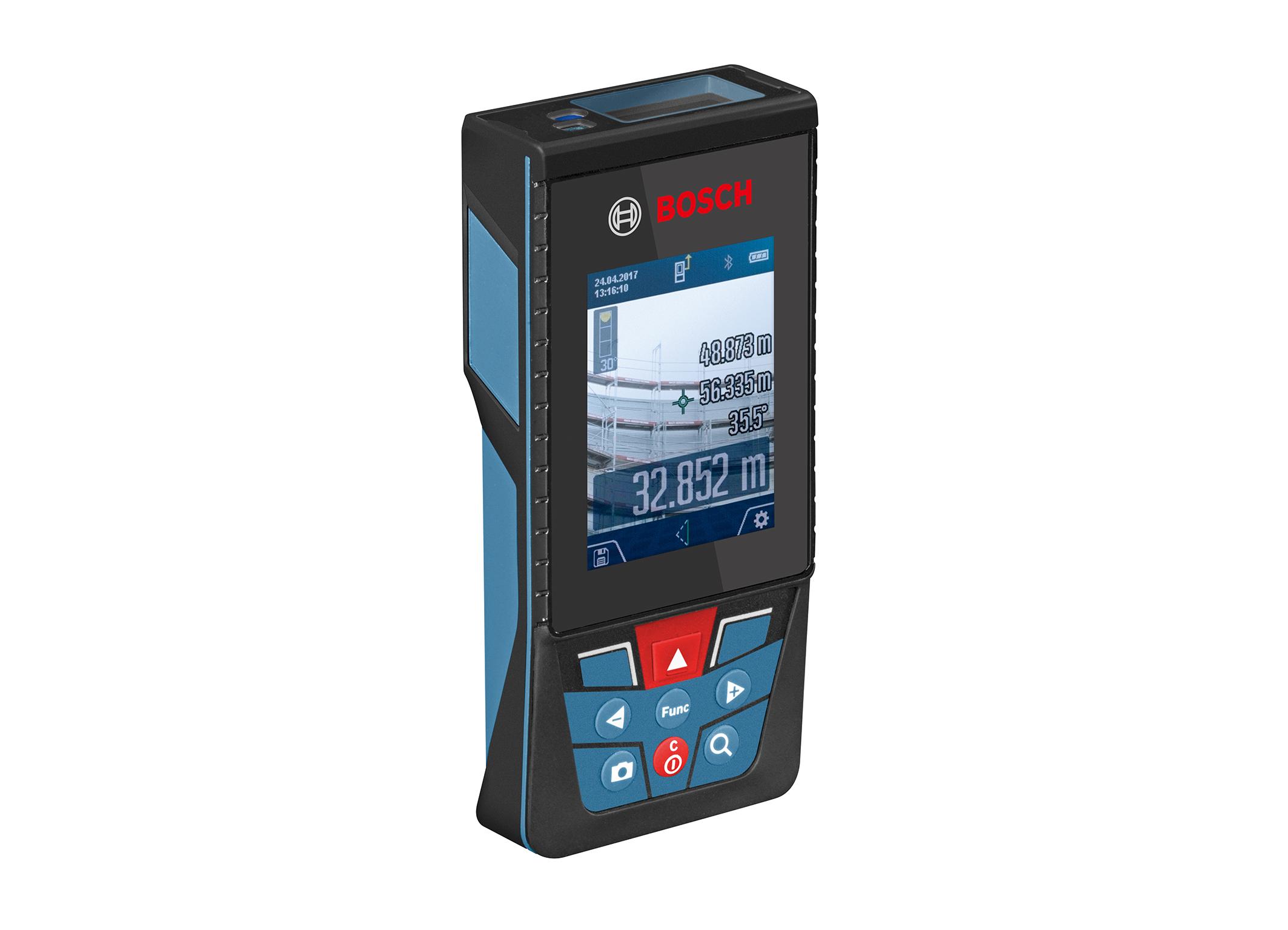 Erster Bosch Laser-Entfernungsmesser mit Kamera: der GLM 120 C Professional von Bosch