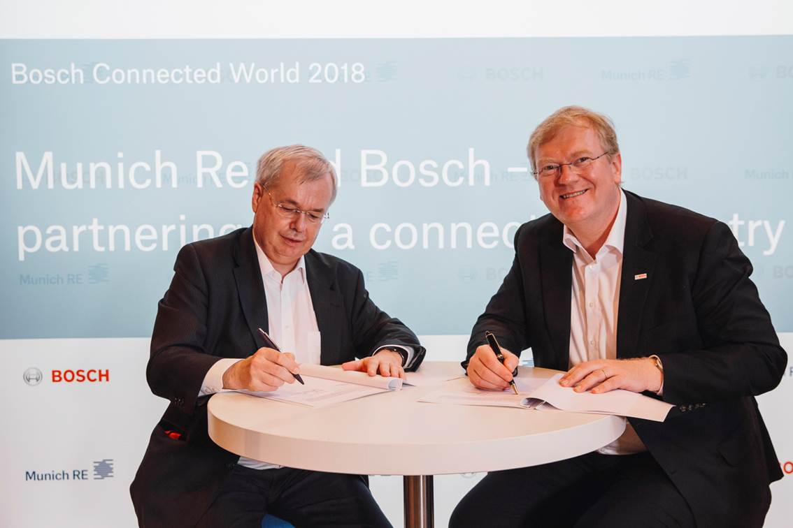 Partnership Agreed Between Bosch And Munich Re Bosch Media Service