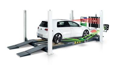 Kalibrier-Set DAS 1000 von Bosch: Sensoren und Kameras von Fahrerassistenzsystemen professionell einstellen