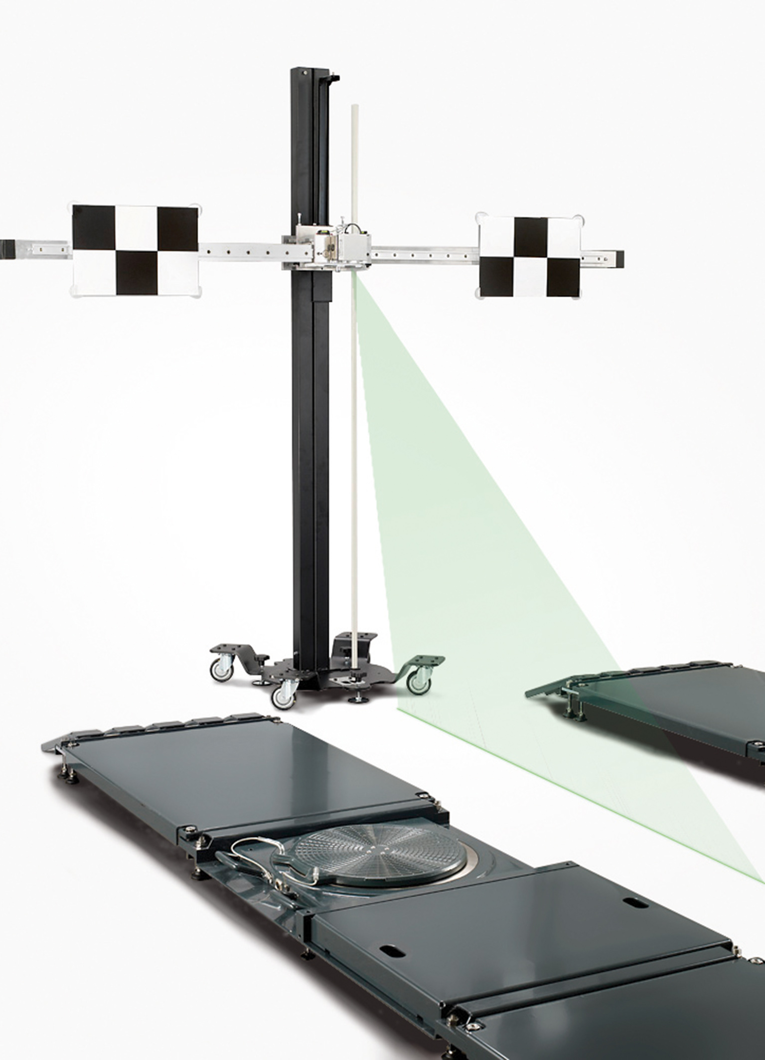 SCT 415: Universal mounting for the high precision measuring bar and vehicle specific targets