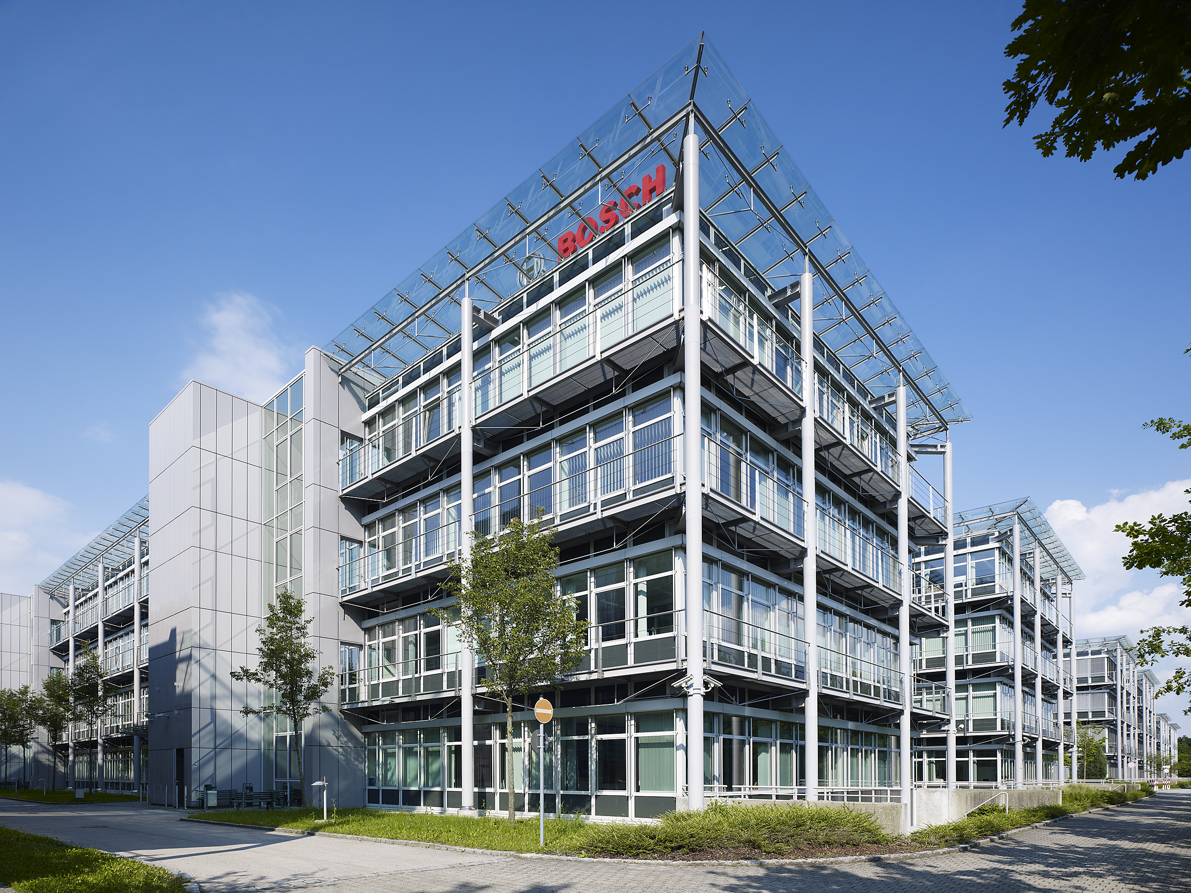 Headquarter of Bosch Building Technologies in Grasbrunn near Munich