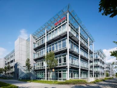 Sitz von Bosch Building Technologies in Grasbrunn bei München