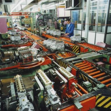 Montage von Diesel-Einspritzpumpen im Werk Homburg, 1981