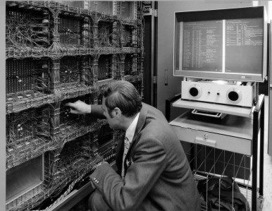 IBM large-capacity computer at Bosch in Feuerbach, 1971
