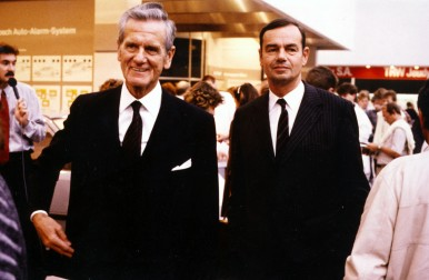 Hans L.Merkle and Marcus Bierich at the IAA in Frankfurt, 1985