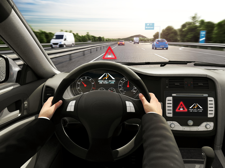 Cloud-based wrong-way driver warning