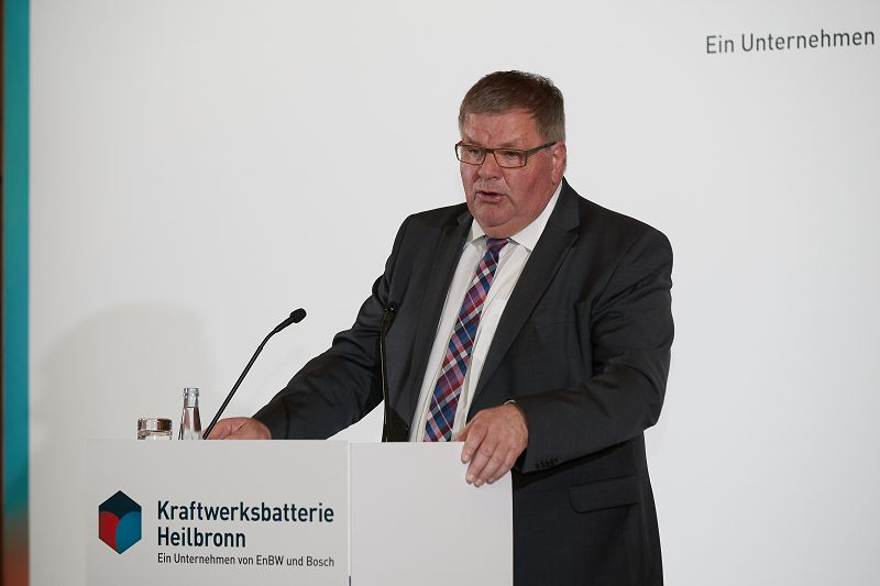 Uwe Glock at the initiation of the energy storage in Heilbronn