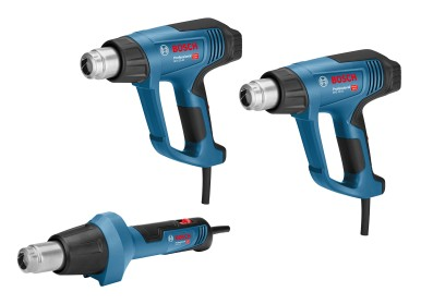 Three different models for various applications: New hot air gun generation from Bosch for professionals