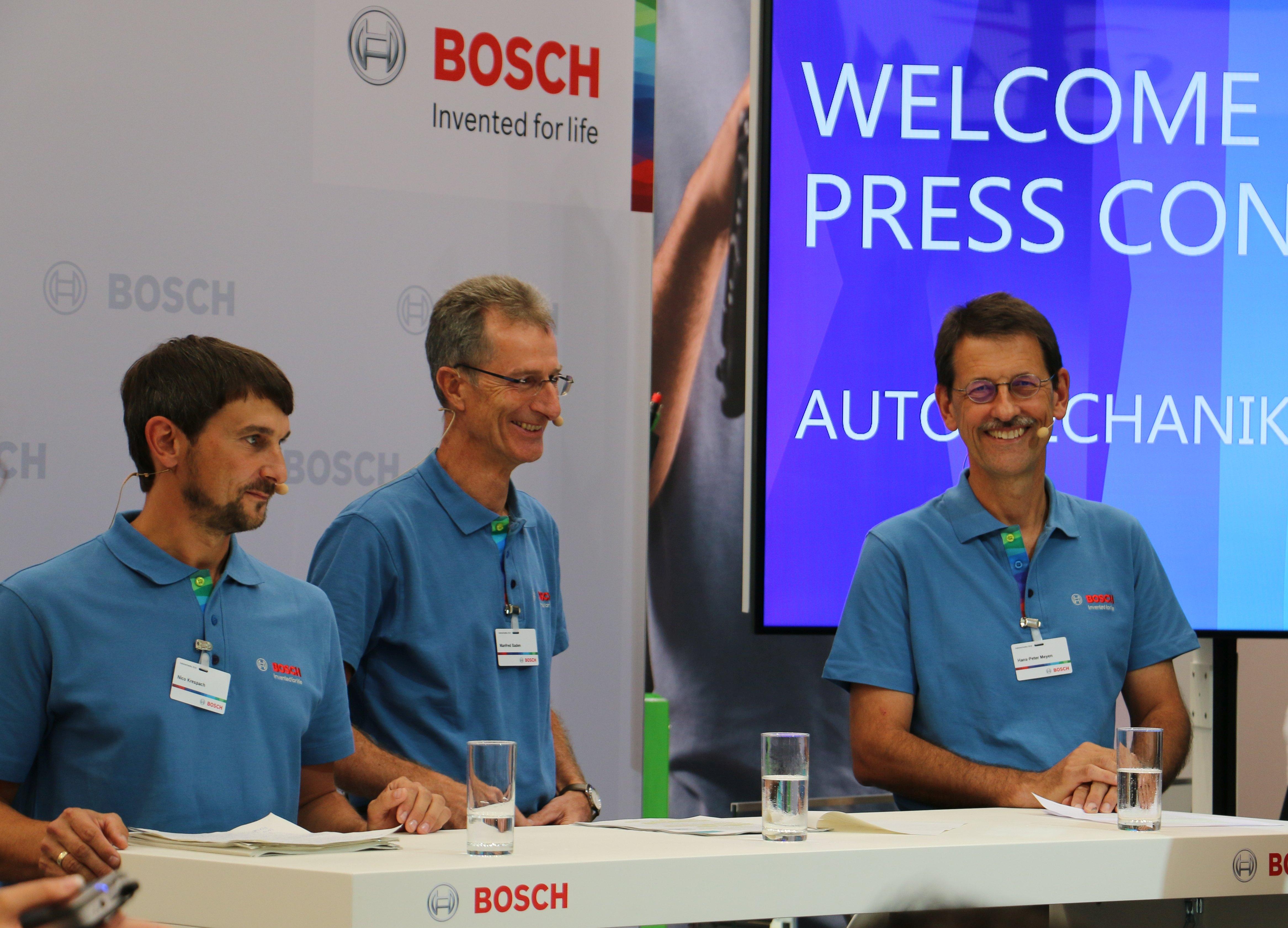 Pressekonferenz von Bosch Automotive Aftermarket auf der Automechanika 2018