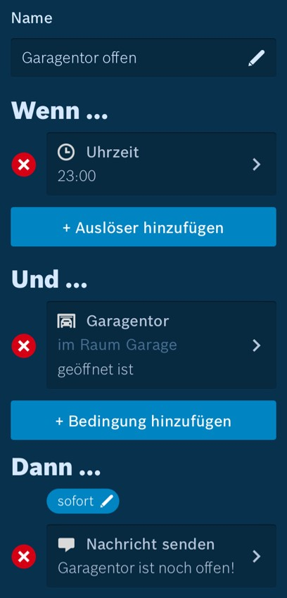 Bosch Smart Home Szenario Manager