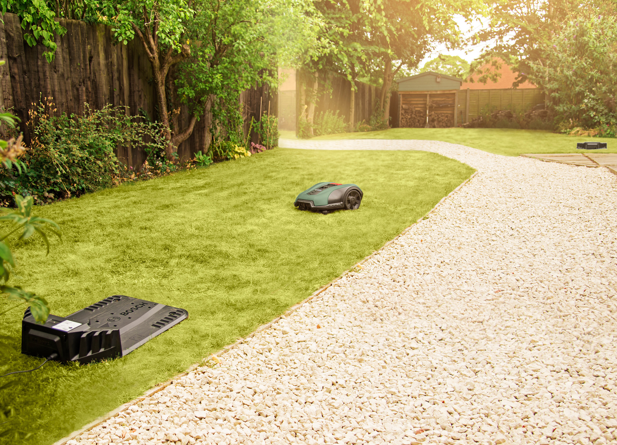 "More comfort thanks to ""MultiArea"" function: Autonomous lawn care of multiple garden areas with the Indego S+"