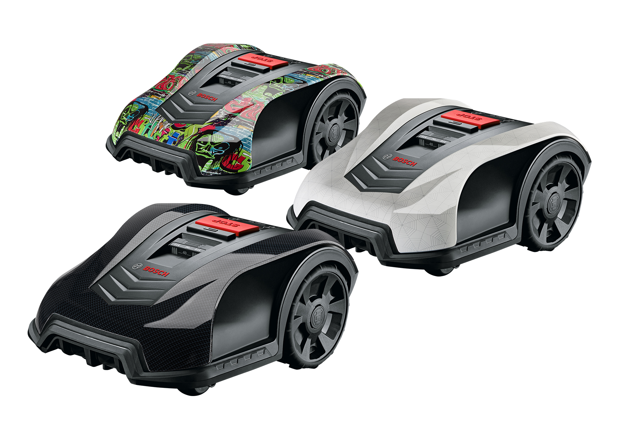 Choose the perfect outfit for your robotic lawnmower: Personal touch with HydroGraphics covers for the Bosch Indego