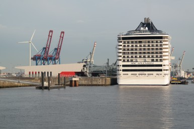 Docking cruise ship