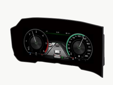 Bosch gets the world's first curved instrument cluster on the road.