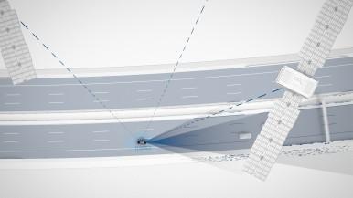 Sicheres automatisiertes Fahren von Bosch: Auf wenige Zentimeter kommt es an