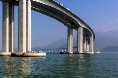 Hong Kong-Zhuhai-Macao Bridge with security solutions from Bosch