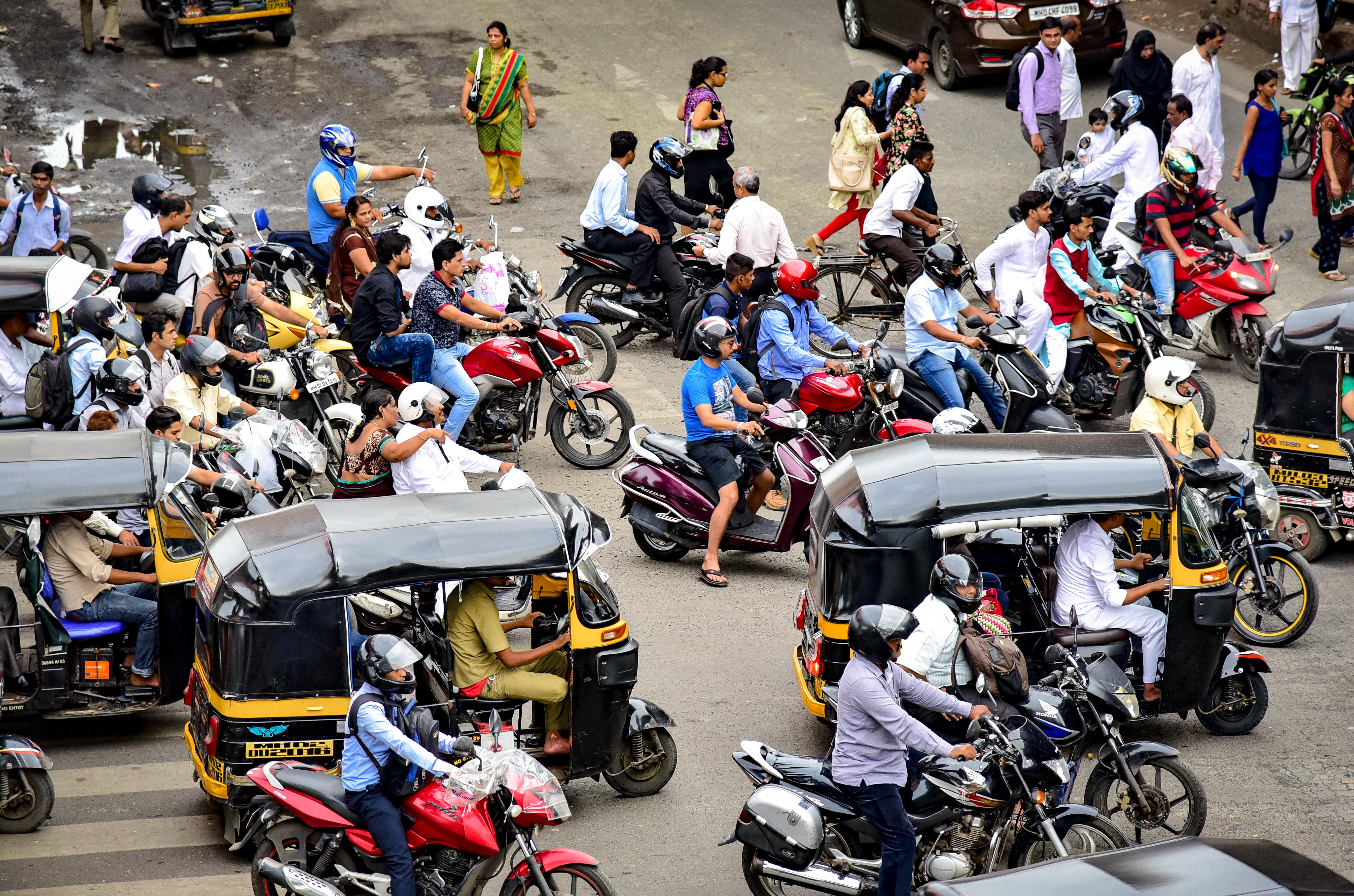 Kreuzung in Mumbai