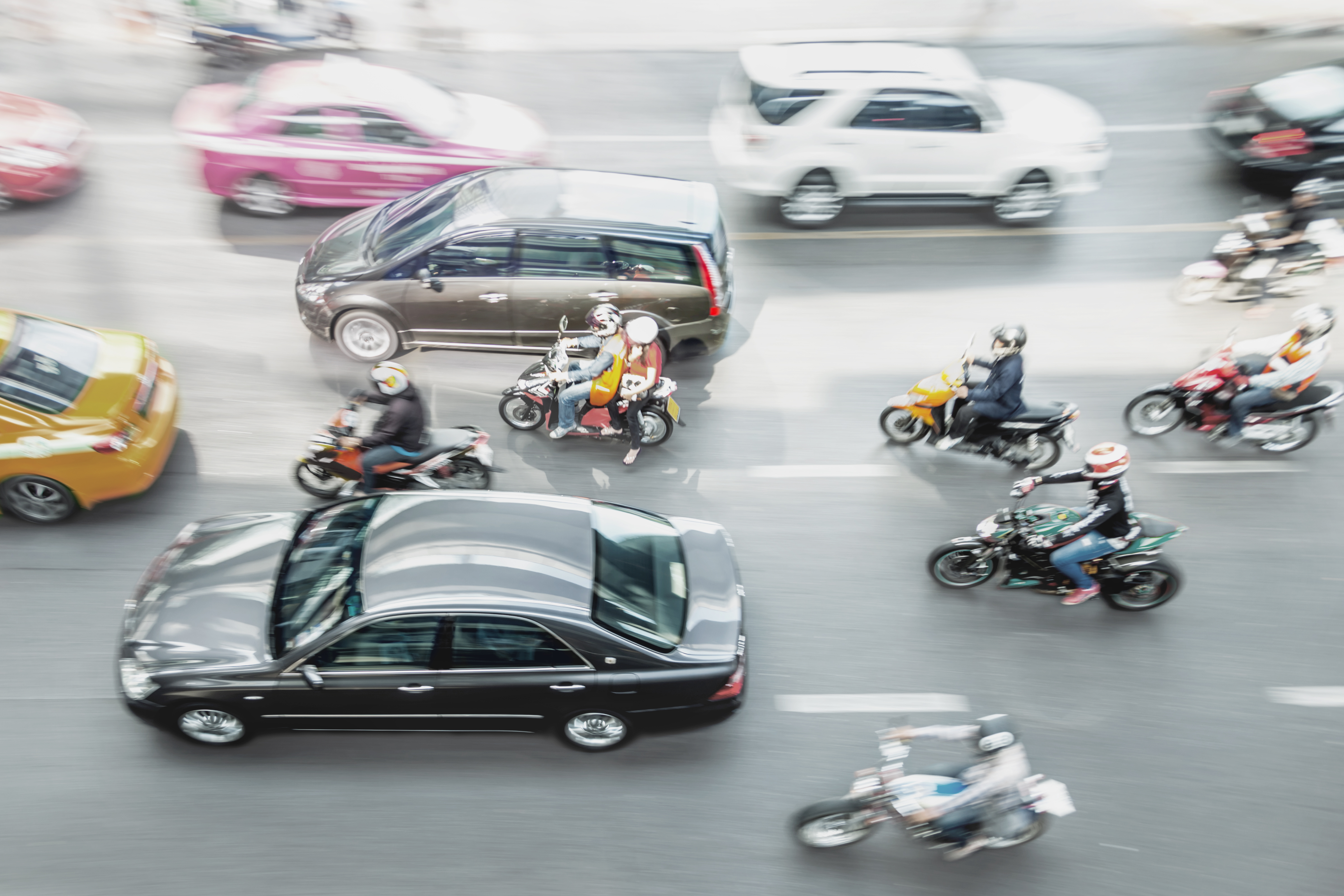 Motorcycles in urban traffic