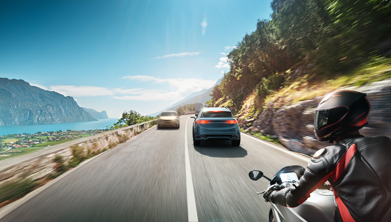 Die Kollisionswarnung für Motorräder