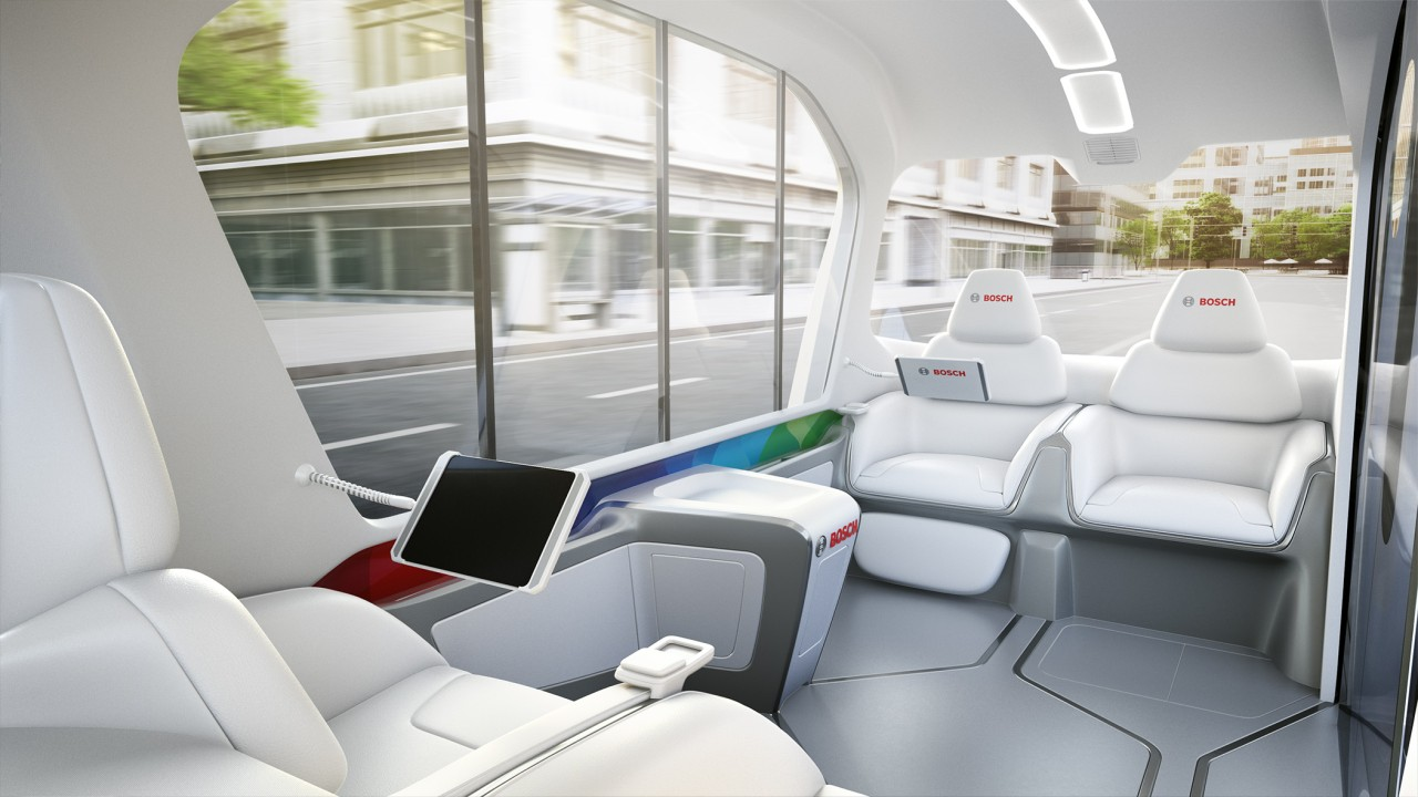 Debut of Bosch's new concept shuttle at CES 40 in Las Vegas ...