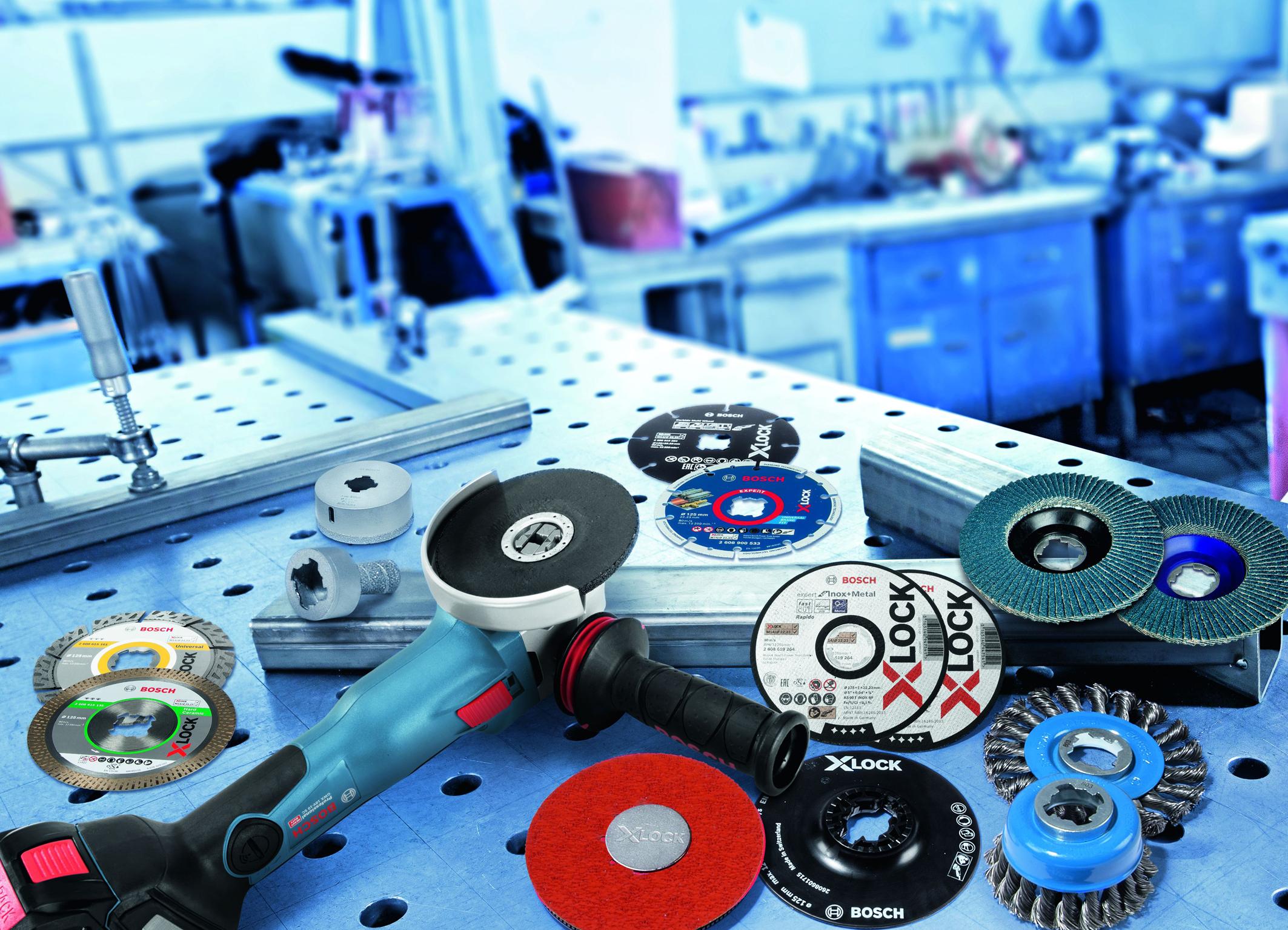 Weltneuheit X-Lock von Bosch für Profis:  Umfassendes Zubehör-Programm für jede Anwendung