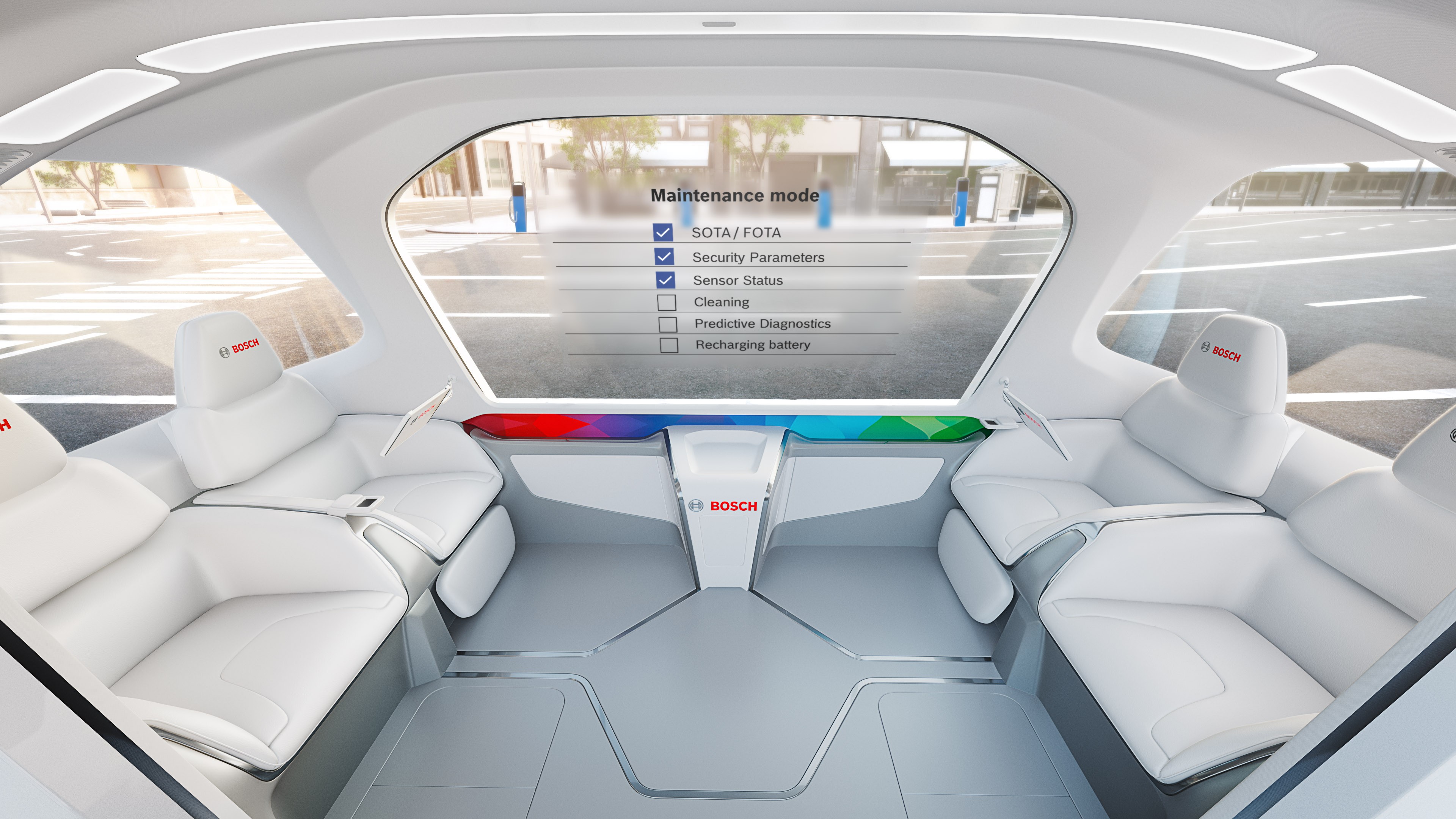 Mobility services from Bosch to easily maintain shuttle vehicles