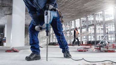 Längere Lebensdauer bei Einsätzen in armiertem Beton:  Bosch Vier-Schneiden-Hammerbohrer SDS max-8X
