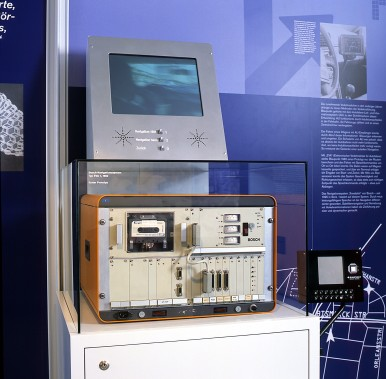 "Bosch navigation system ""EVA"" from 1984 in the historical exibition of Bosch Arc ..."