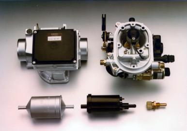 Bosch-Komponenten der Mono-Jetronic, 1983
