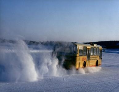 Bosch-Wintertests von ABS / ASR-Anlagen in Arjeplog/Schweden, 1985