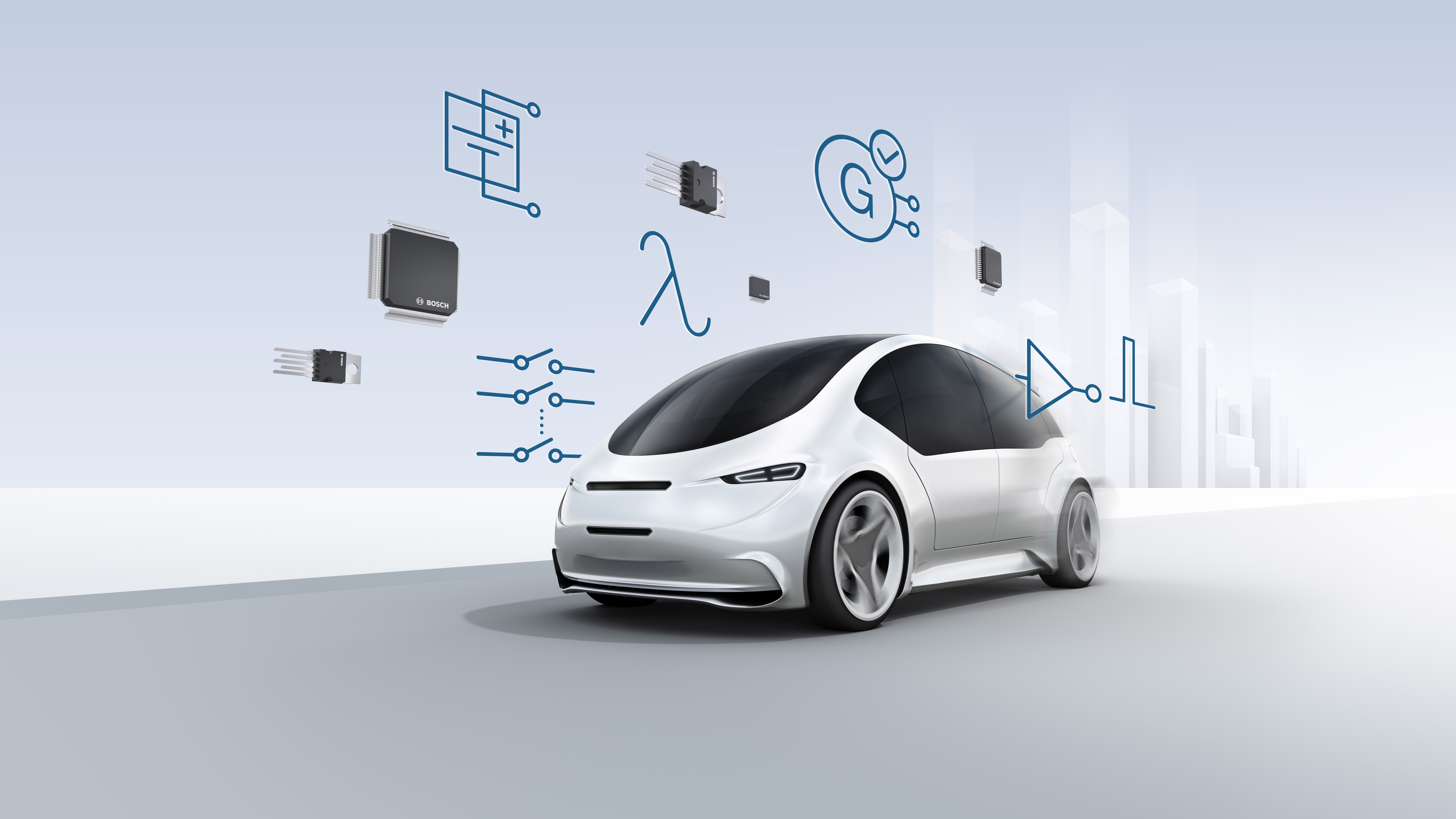 Bosch launches new automotive system-ICs at electronica 2018