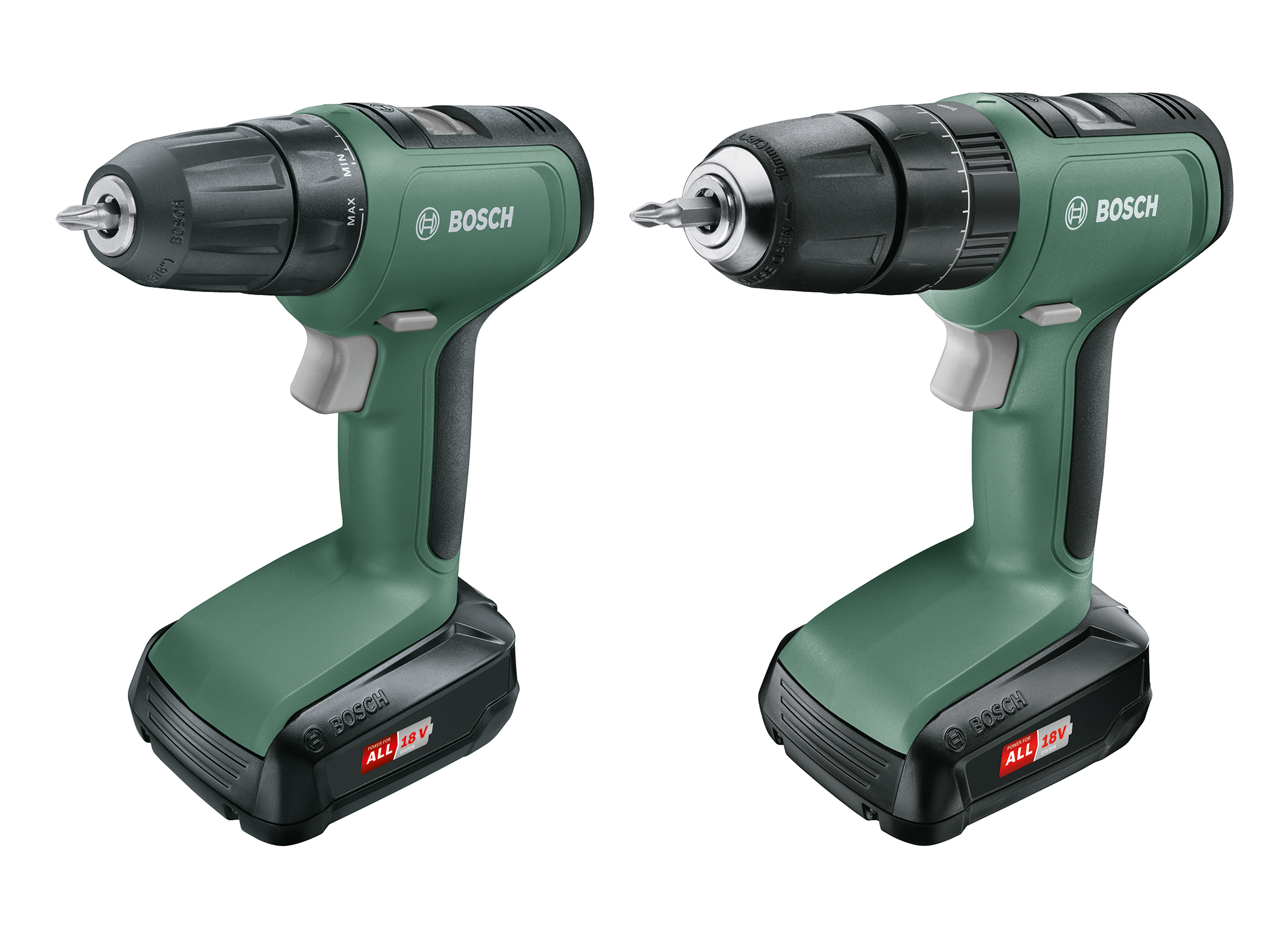 Bosch expands 18 volt system for DIY enthusiasts: UniversalDrill 18 and UniversalImpact 18