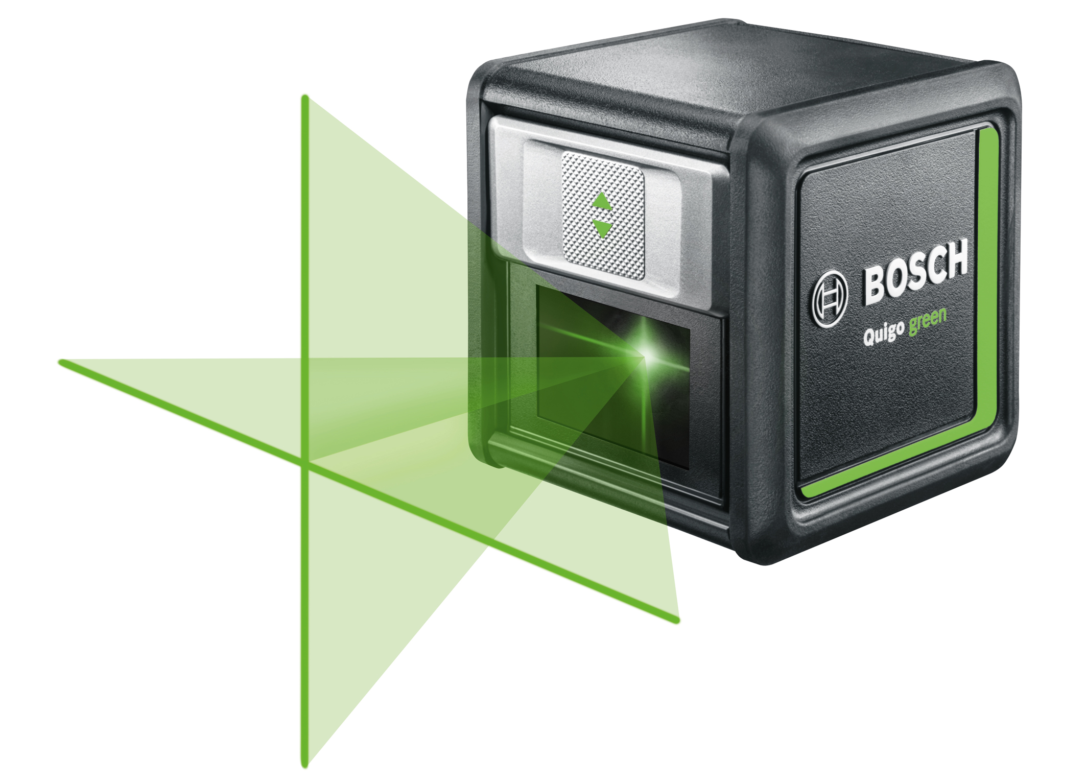 Better visibility thanks to green laser diodes: Quigo Green cross line laser from Bosch