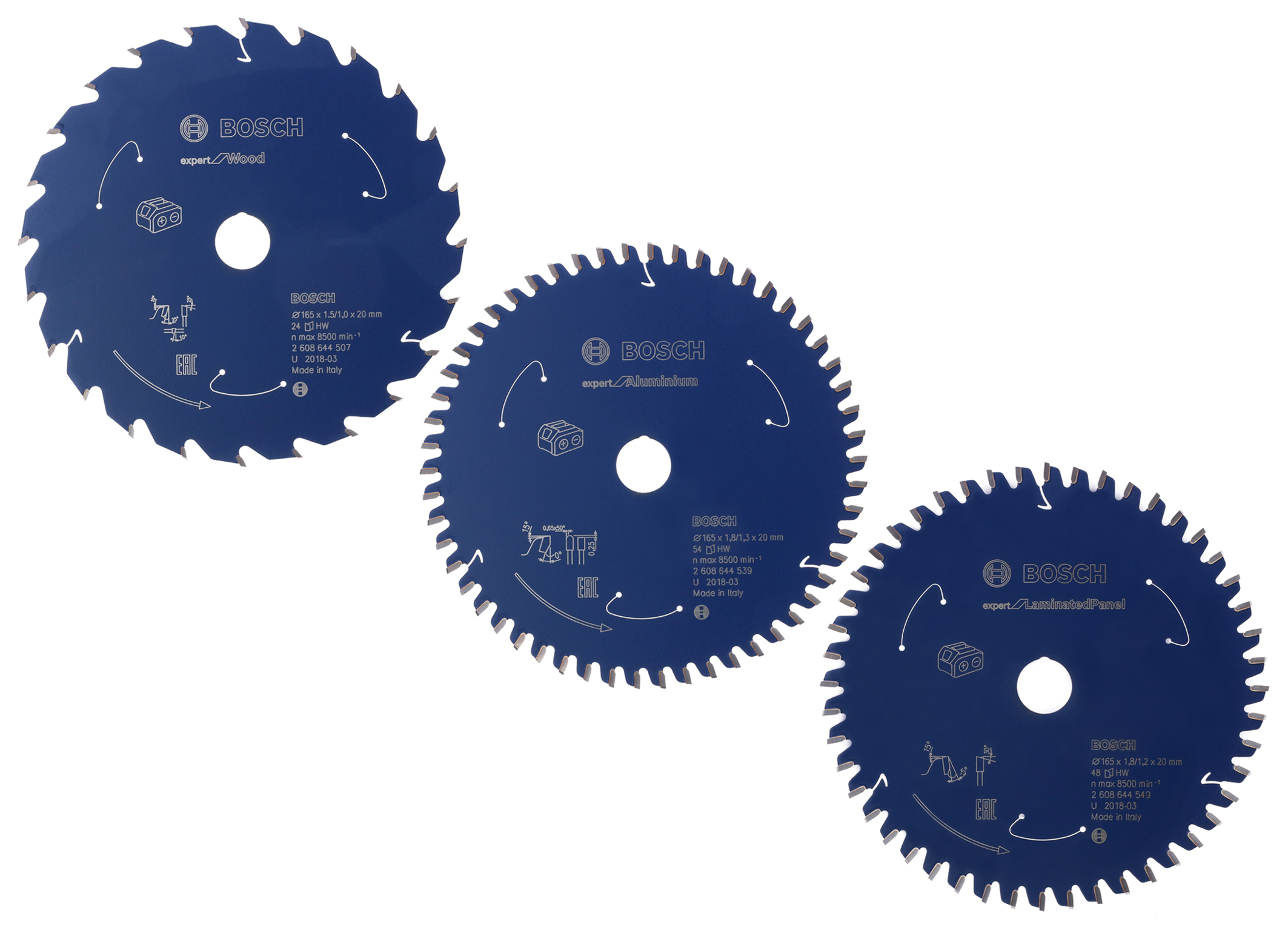 "Continuous high cutting quality, maximum runtime for cordless saws: ""Expert for ‒ Wood, Aluminium und Laminated Panel"" circular saw blades"