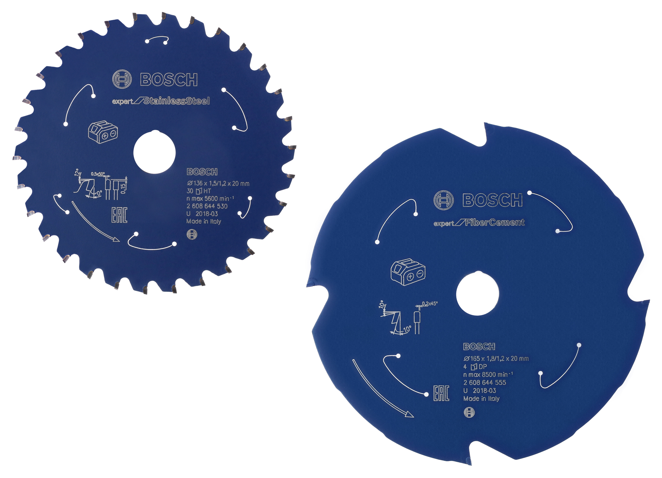 "Continuous high cutting quality, maximum runtime for cordless saws: ""Expert for Stainless Steel"" and ""Expert for Fiber Cement"" circular saw blades"