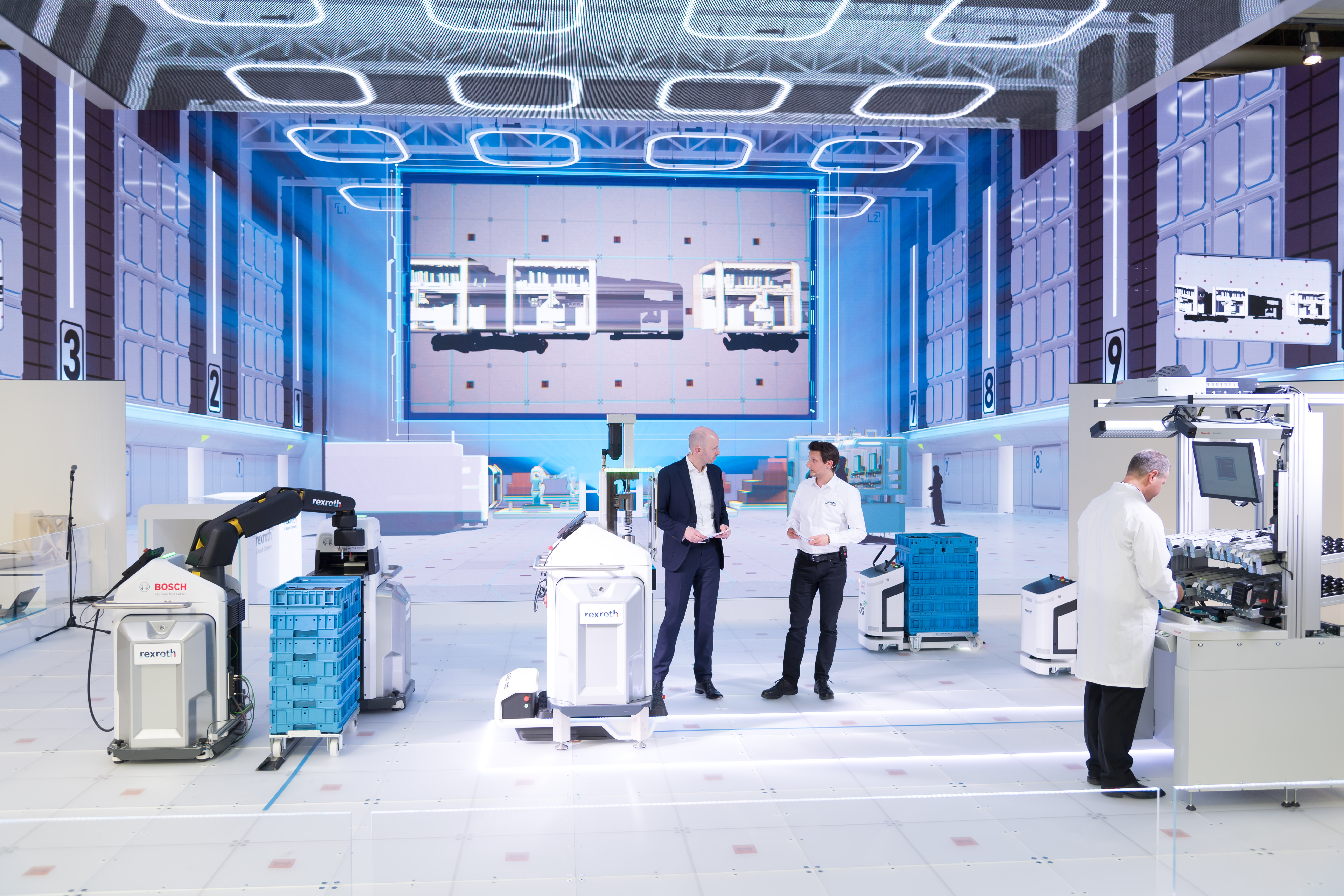 Bosch shows innovative solutions for the factory of the future at the Hannover Messe 2019.