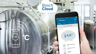 Milk monitoring app from Bosch