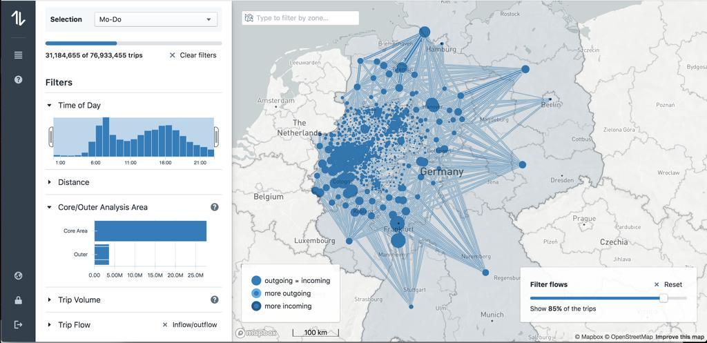 Teralytics Urban Mobility Flow
